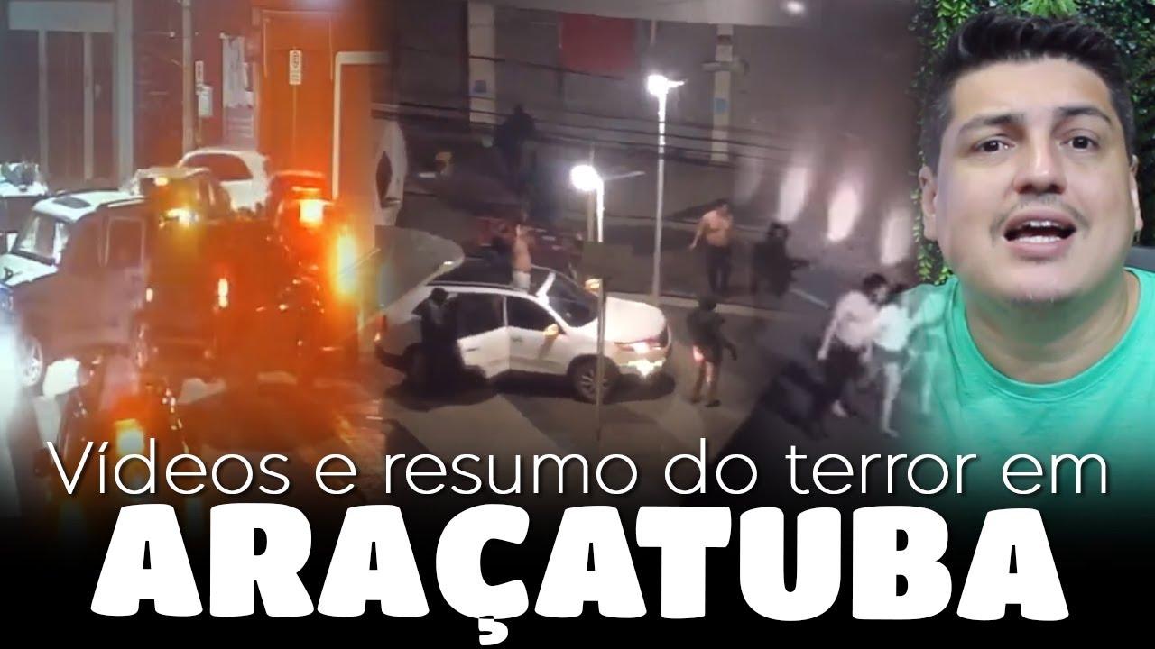 Terror em Aracatuba - Veja todos os vídeos do assalto ao banco