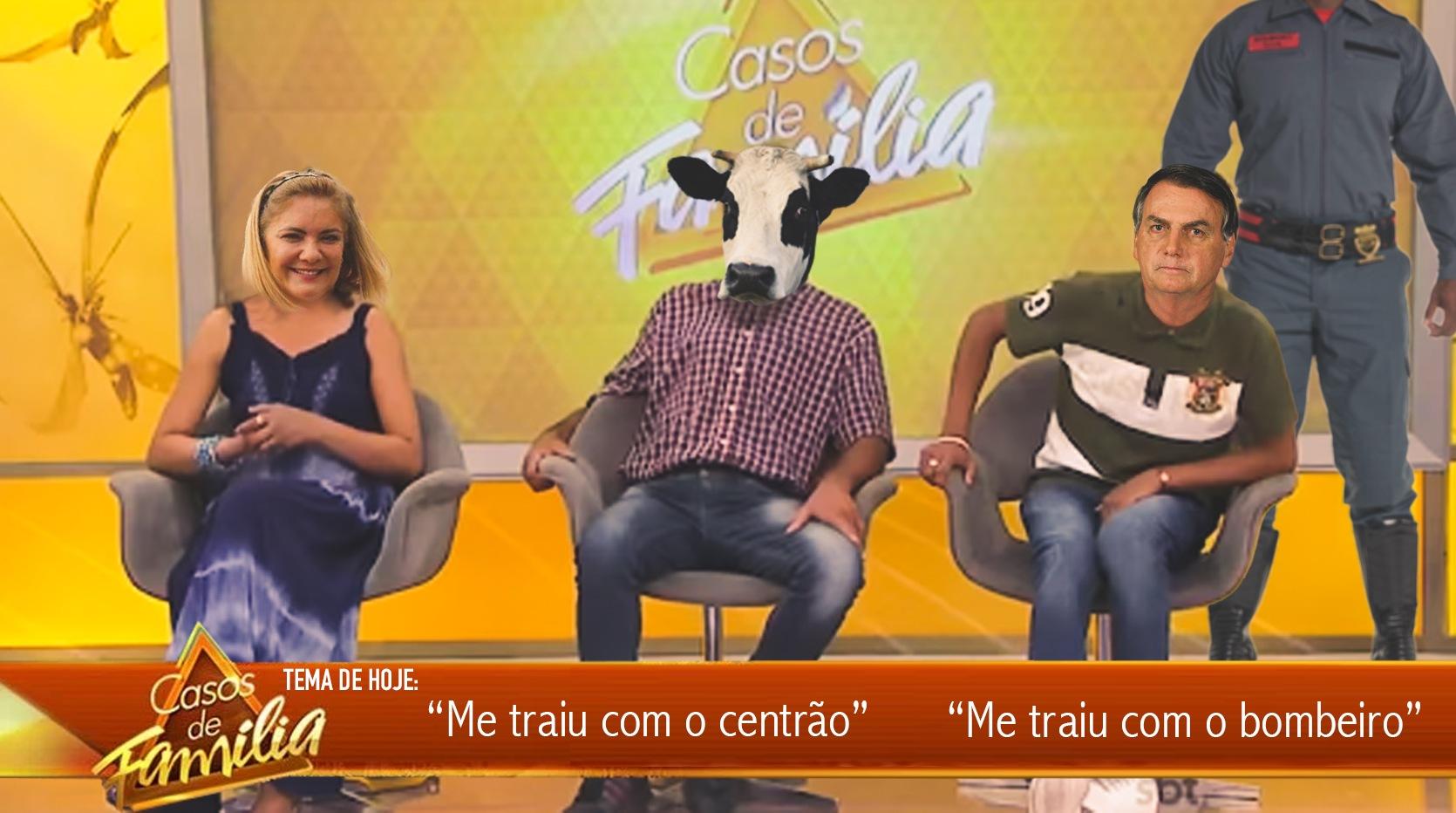 """Casos de Família Tema: """"Me traiu com o bombeiro"""" """"Me traiu com o centrão"""" #BolsonaroCorno"""