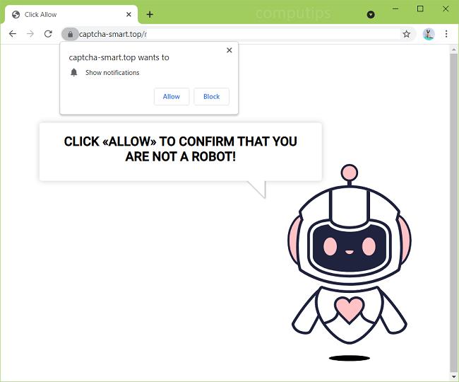 Saiba como remover esse vírus chato que é um robozinho chamado Captcha-smart.top